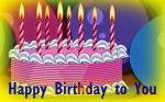 Hình ảnh chúc mừng sinh nhật với ngọn nến lung linh số 1
