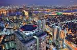 Hình ảnh thành phố seoul của Hàn Quốc về đêm