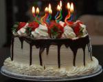 Hình  ảnh bánh sinh nhật với những ngọn nến lung linh số 10