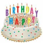 Hình  ảnh bánh sinh nhật với những ngọn nến lung linh số 20
