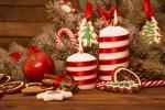 Hình nền merry christmas với ngọn nến đẹp lung linh số 10