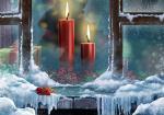 Hình nền merry christmas với ngọn nến đẹp lung linh số 2