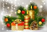 Hình nền merry christmas với ngọn nến đẹp lung linh số 19
