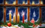 Hình nền merry christmas với ngọn nến đẹp lung linh số 1