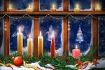 Hình nền merry christmas với ngọn nến đẹp lung linh