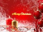 Hình nền merry christmas với ngọn nến đẹp lung linh số 3