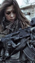 Hình nền nữ quân nhân xinh đẹp 7