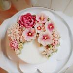 Hình ảnh bánh sinh nhật họa tiết hoa lá 3D - 8