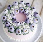 Hình ảnh bánh sinh nhật họa tiết hoa lá 3D - 16