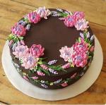 Hình ảnh bánh sinh nhật họa tiết hoa lá 3D - 15