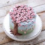 Hình ảnh bánh sinh nhật họa tiết hoa lá 3D - 10