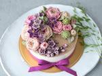 Hình ảnh bánh sinh nhật họa tiết hoa lá 3D - 3