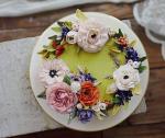 Hình ảnh bánh sinh nhật họa tiết hoa lá 3D - 5