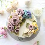 Hình ảnh bánh sinh nhật họa tiết hoa lá 3D - 20