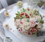 Hình ảnh bánh sinh nhật họa tiết hoa lá 3D - 19