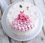 Hình ảnh bánh sinh nhật họa tiết hoa lá 3D - 18