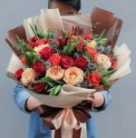 Bó hoa sinh nhật mang vẻ đẹp lung linh - 1