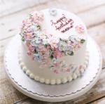 Top 15 mẫu bánh sinh nhật họa tiết hoa đẹp mắt gửi đến mẹ yêu - 12