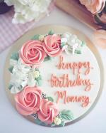 Top 15 mẫu bánh sinh nhật họa tiết hoa đẹp mắt gửi đến mẹ yêu - 3