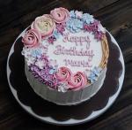 Top 15 mẫu bánh sinh nhật họa tiết hoa đẹp mắt gửi đến mẹ yêu - 4
