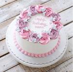 Top 15 mẫu bánh sinh nhật họa tiết hoa đẹp mắt gửi đến mẹ yêu - 5