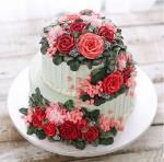 Bánh sinh nhật hoa hồng 3D đẹp xuất sắc dành tặng mẹ và bạn gái ý nghĩa nhất - 6