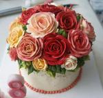 Bánh sinh nhật hoa hồng 3D đẹp xuất sắc dành tặng mẹ và bạn gái ý nghĩa nhất - 19