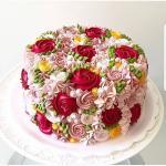 Bánh sinh nhật hoa hồng 3D đẹp xuất sắc dành tặng mẹ và bạn gái ý nghĩa nhất - 3