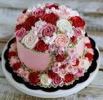 Bánh sinh nhật hoa hồng 3D đẹp xuất sắc dành tặng mẹ và bạn gái ý nghĩa nhất - 9