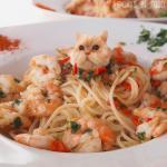 Sự kết hợp của mèo và đồ ăn bằng Photoshop đã tạo nên bộ ảnh dễ thương