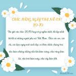 Xin gửi câu chúc 20/10 hay và ý nghĩa nhất, tốt đẹp nhất tới tất cả những người phụ nữ Việt Nam. Chúc các em, các chị, các bạn ngày một xinh đẹp, có thêm nhiều chàng trai đeo bám nhằng nhằng như lửa bám xăng, như răng bám lợi, như trời bám mây, như cây bám đất.