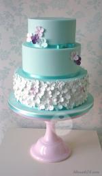 Hình ảnh những mẫu bánh sinh nhật màu xanh, xanh dương, xanh ngọc đẹp nhất - 15