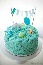 Hình ảnh những mẫu bánh sinh nhật màu xanh, xanh dương, xanh ngọc đẹp nhất- 3