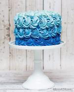 Hình ảnh những mẫu bánh sinh nhật màu xanh, xanh dương, xanh ngọc đẹp nhất- 26