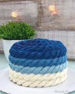 Hình ảnh những mẫu bánh sinh nhật màu xanh, xanh dương, xanh ngọc đẹp nhất- 22