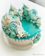 Hình ảnh những mẫu bánh sinh nhật màu xanh, xanh dương, xanh ngọc đẹp nhất- 19