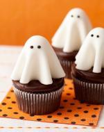 Ý tưởng trang trí bánh cupcake bầy ma halloween