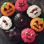 Trang trí bánh cupcake halloween kinh dị