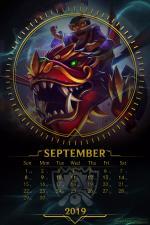 Lịch tết 2019 - lịch tết Kỷ Hợi đẹp có lịch âm - Lịch Tháng 9/2019