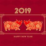 Vector heo vàng 2019, Pig Vector, Vector heo tết Kỷ Hợi mới nhất cho Designer - 8
