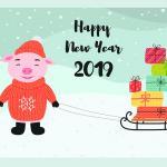 Tải vector heo tết 2019, vector con heo mừng năm mới 2019 cực dễ thương - hình 8