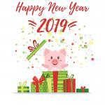 Tải vector heo tết 2019, vector con heo mừng năm mới 2019 cực dễ thương - hình 6