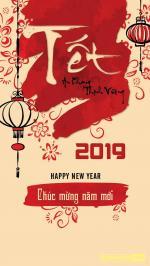 Hình nền tết 2019- Hình nền chúc tết năm mới 2019 cho điện thoại - Hình 9