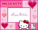 Thiệp chúc mừng sinh nhật Hello Kitty - Hình 1