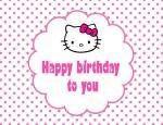 Thiệp chúc mừng sinh nhật Hello Kitty - Hình 14