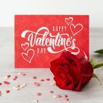 Thiệp valentine với hình ảnh bông hồng tuyệt đẹp - Biểu trưng cho tình yêu ngọt ngào