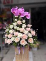 Những lẵng hoa hồng 8/3 đẹp nhất dành tặng ngày Quốc tế phụ nữ 8/3 - Hình ảnh 9