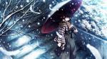 Hình ảnh anime nữ buồn tuyết rơi