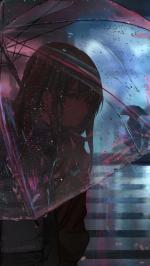Hình nền anime buồn cho điện thoại của nữ - Hình 8