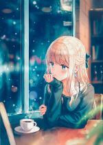 Hình nền anime buồn cho điện thoại của nữ - Hình 7